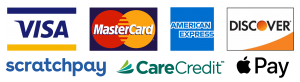 Visa-MasterCard-AmericanExpress-Discover-CareCredit-Scratchpay Frankfort Kentucky Vet Clinic Payment Options AllPetsKY
